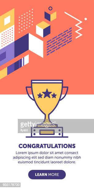 congrats banner - match sport stock illustrations, clip art, cartoons, & icons