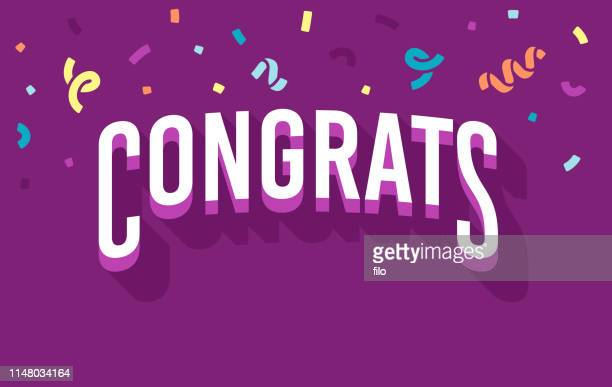 congrats - celebration stock-grafiken, -clipart, -cartoons und -symbole