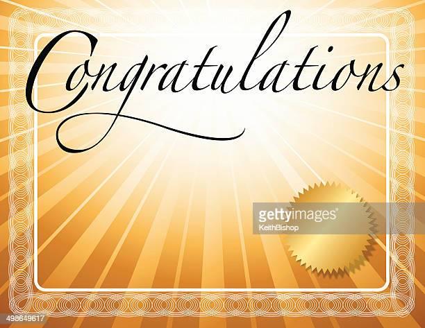 ilustraciones, imágenes clip art, dibujos animados e iconos de stock de felicitaciones el fondo - felicitar