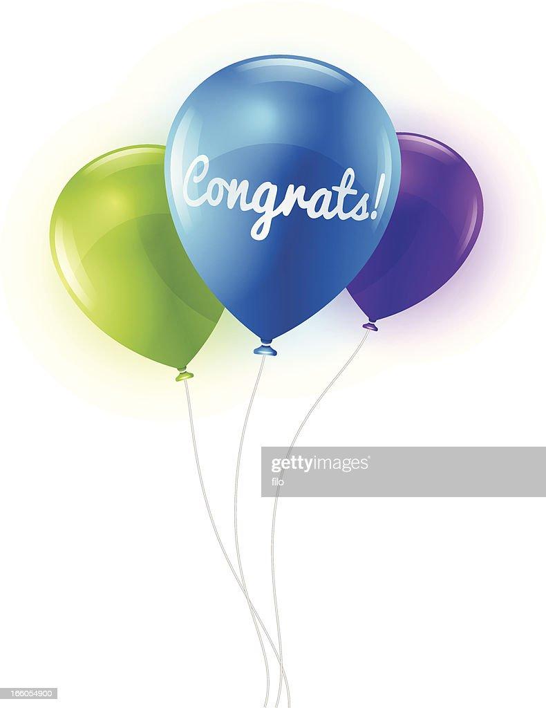 Congratulations Balloons : stock illustration