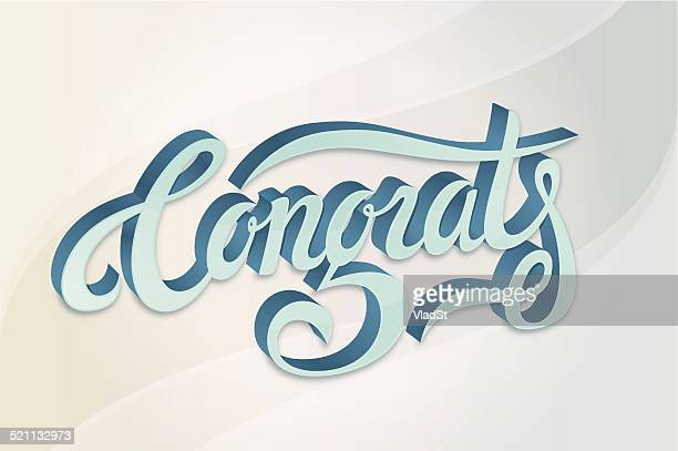 congratulations compliments calligraphy card - applauding stock illustrations, clip art, cartoons, & icons