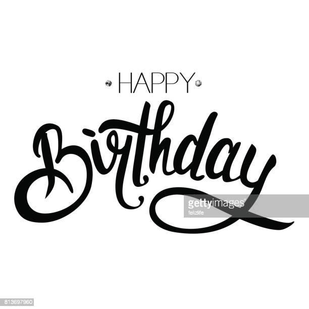 "congratulations ""happy birthday"" - birthday stock illustrations"
