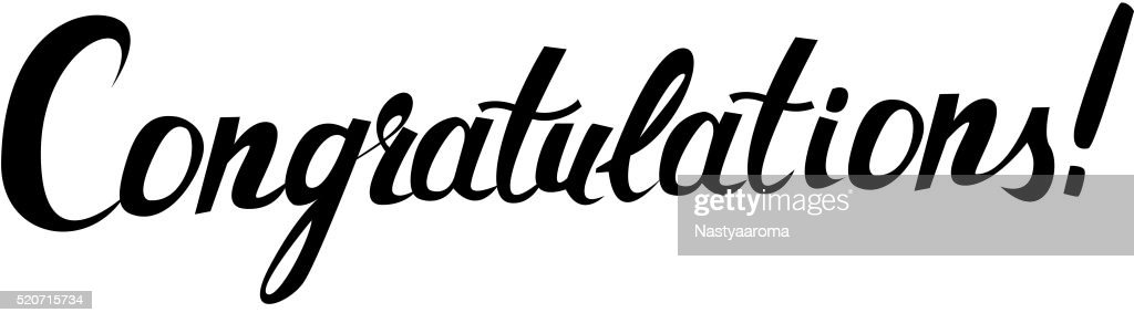 Congratulations original handwritten calligraphy