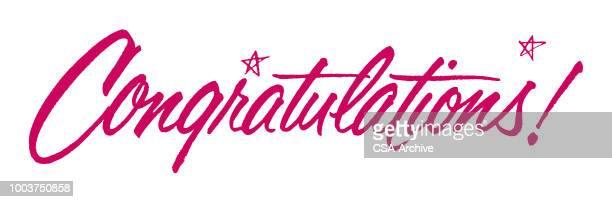 herzlichen glückwunsch! - gratulieren stock-grafiken, -clipart, -cartoons und -symbole
