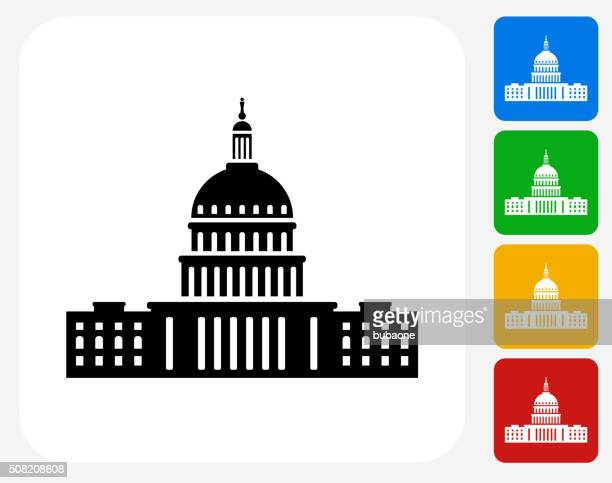 Congress Icon Flat Graphic Design