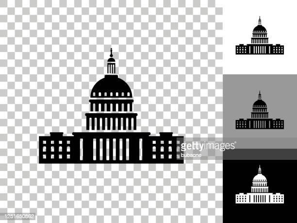 kongress-symbol auf checkerboard transparenter hintergrund - senat stock-grafiken, -clipart, -cartoons und -symbole