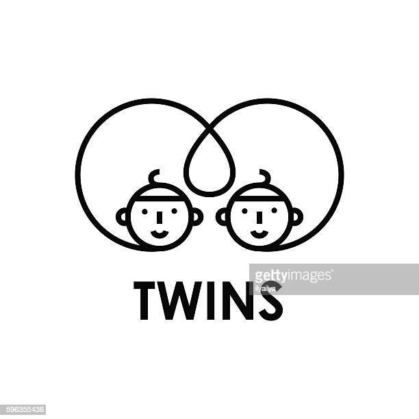 ilustraciones, imágenes clip art, dibujos animados e iconos de stock de conjoined twins vector illustration - cultura coreana