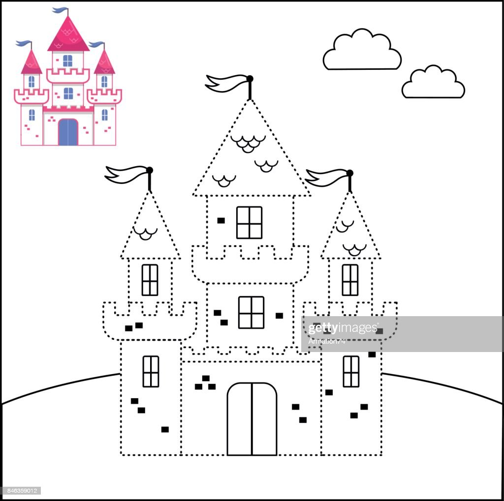 Connect the dots and coloring page