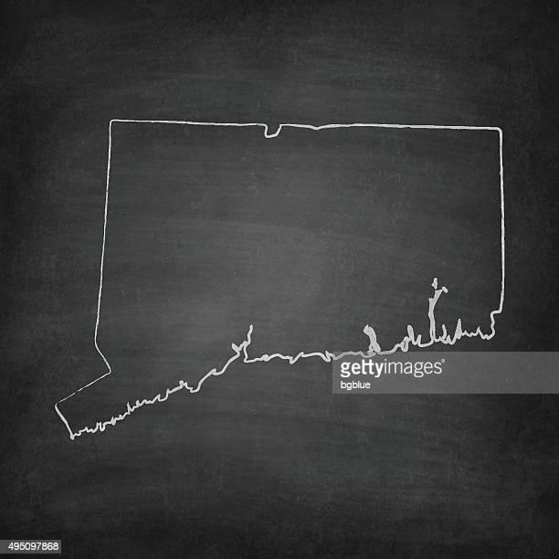 Connecticut Map on Blackboard - Chalkboard