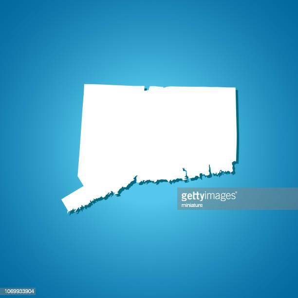 コネチカット州地図 - コネチカット州点のイラスト素材/クリップアート素材/マンガ素材/アイコン素材