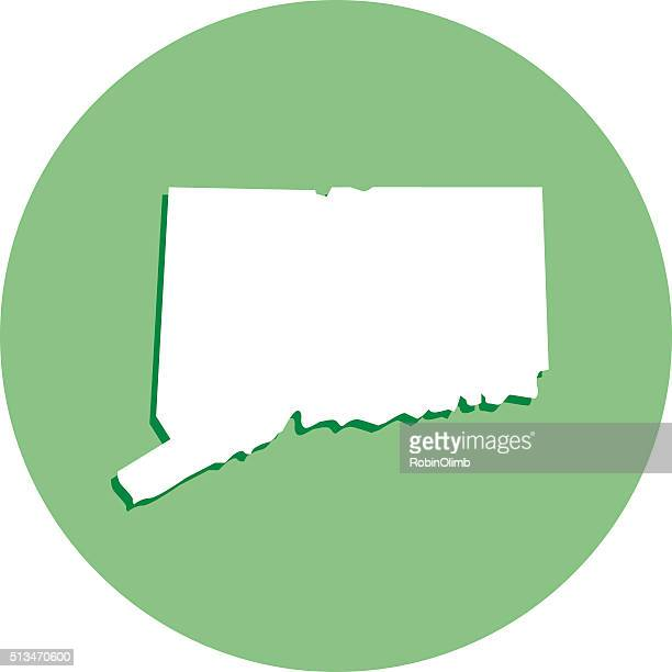 Connecticut Round Map Icon