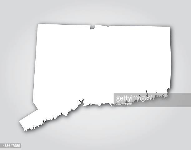 connecticut silhouette white - hartford connecticut stock illustrations, clip art, cartoons, & icons