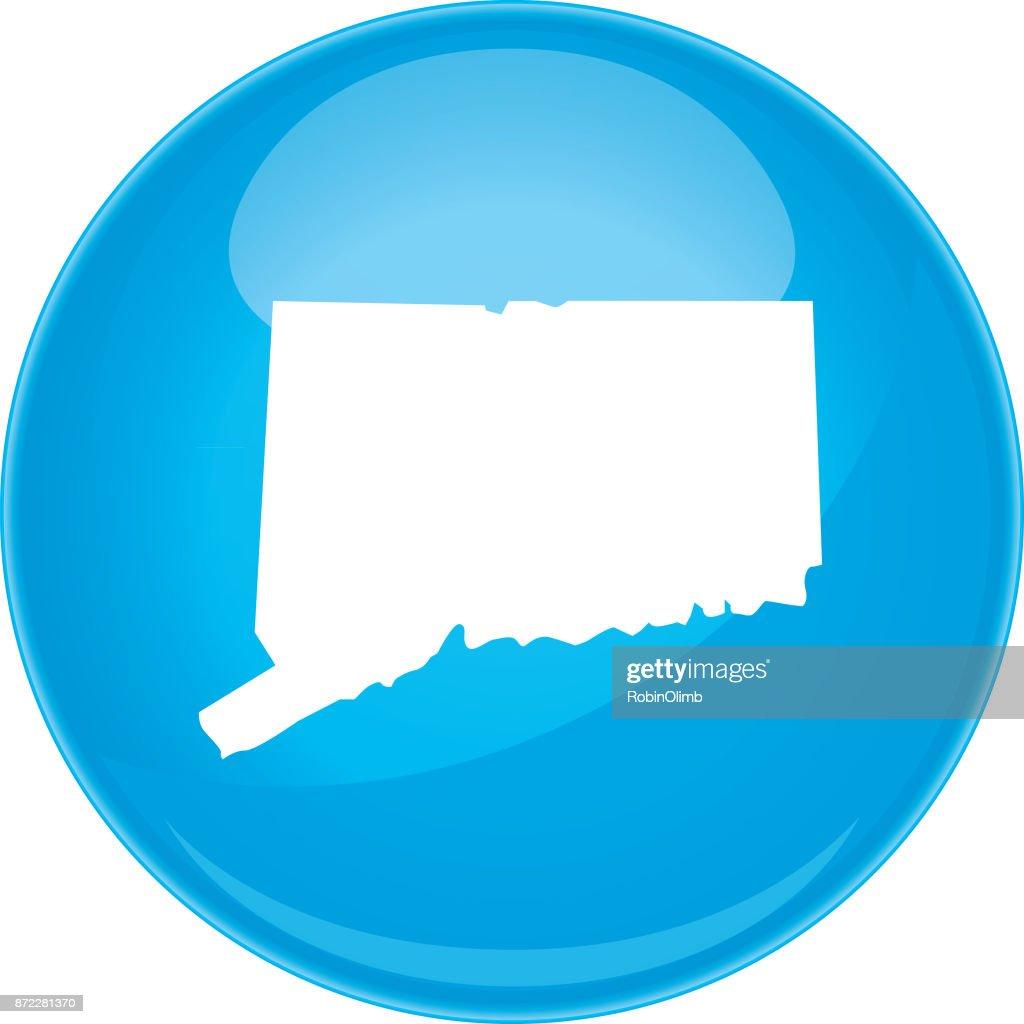Connecticut Sphere Map : stock illustration