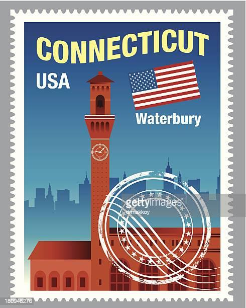 コネチカット州 stamp - コネチカット州点のイラスト素材/クリップアート素材/マンガ素材/アイコン素材
