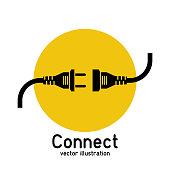 Connection concept, icon