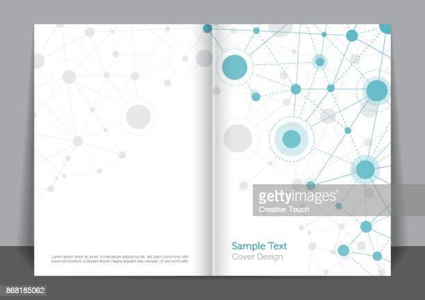 ilustrações, clipart, desenhos animados e ícones de design da capa de conexão - capa de livro