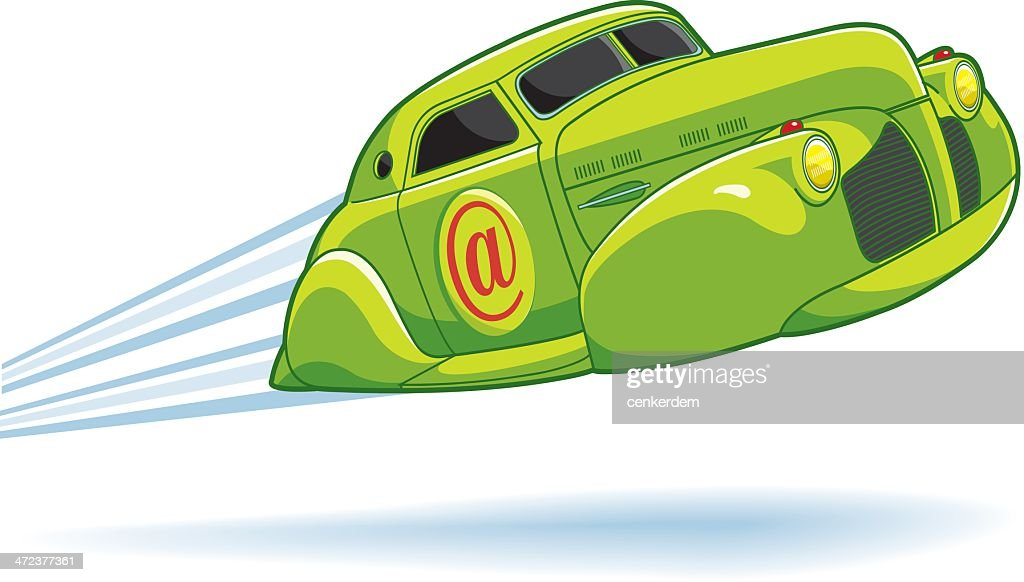 Connection Like A Fast Car Vector Art Getty Images - Fast car 361