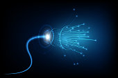 connection line on networking telecommunication concept background