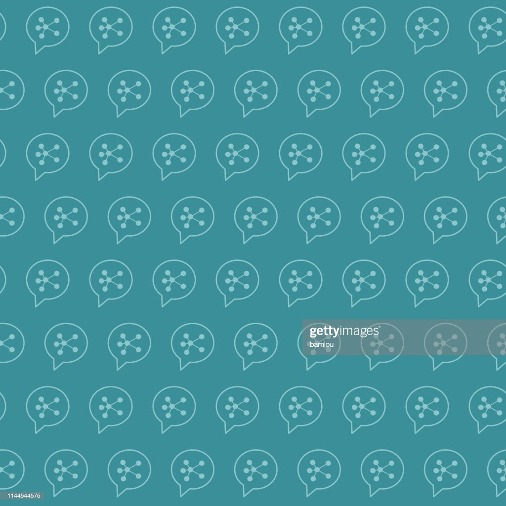 Connection Network Bluish Seamless Pattern Background