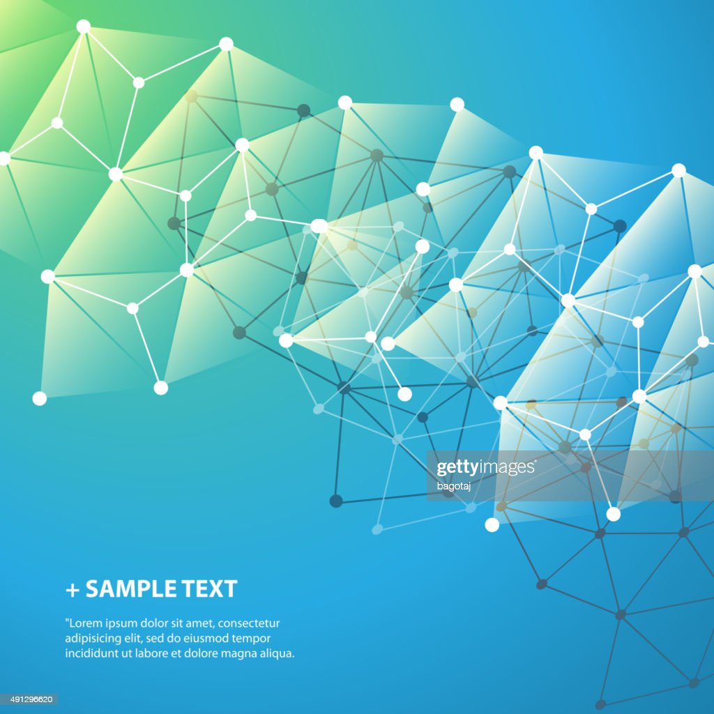 Connections, Molecular, Global, Business Network Design - Abstract Mesh Background