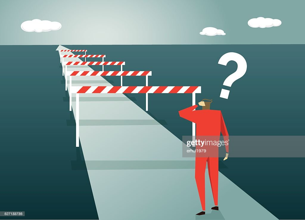 Conquering Adversity, Challenge, Road, Confusion, Uncertainty, ?, Asking, Problems : stock illustration