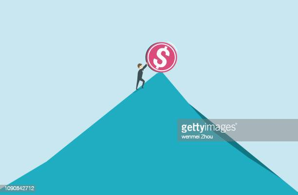conquering adversity - steep stock illustrations, clip art, cartoons, & icons