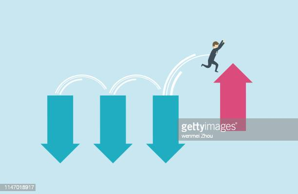 conquering adversity - defeat stock illustrations
