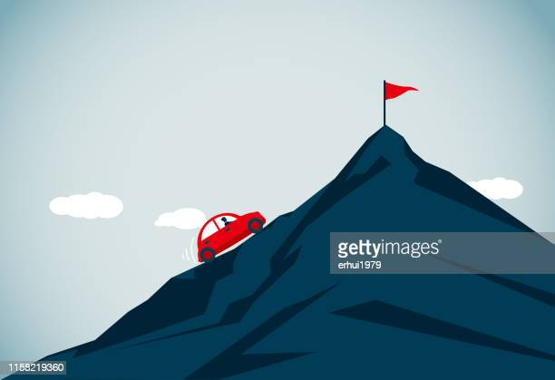 conquering adversity - on the move stock illustrations