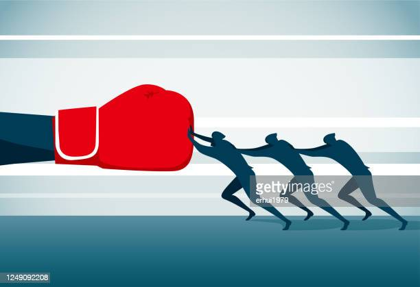 conquering adversity - toughness stock illustrations