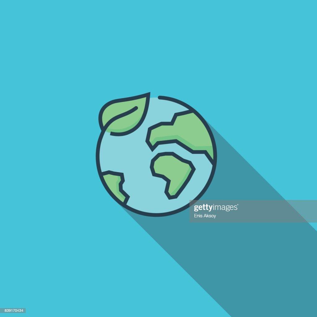 Conservation Flat Icon : stock illustration