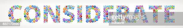 rücksichtsvoll business und finance vector buttons. - social grace stock-grafiken, -clipart, -cartoons und -symbole