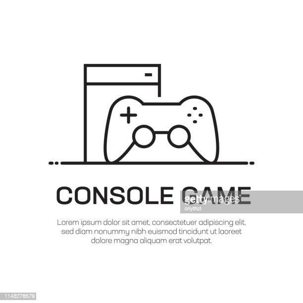 Console spel vector lijn icoon-eenvoudige dunne lijn icoon, Premium kwaliteit design element