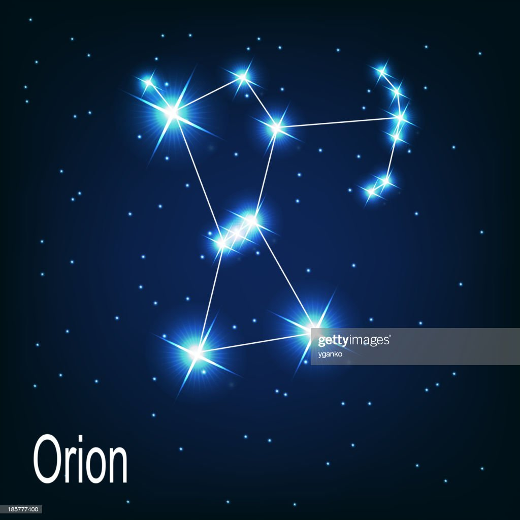 constellation 'Orion' star in the night sky. Vector illustra