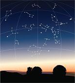 Constellations in the Hawaiian sky