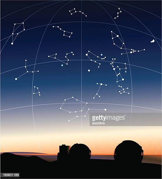Constellations in the Hawaiian sky