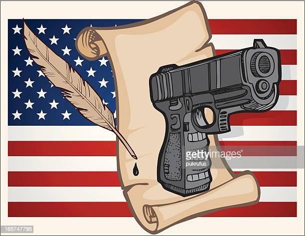 constitutional right - bill of rights stock illustrations