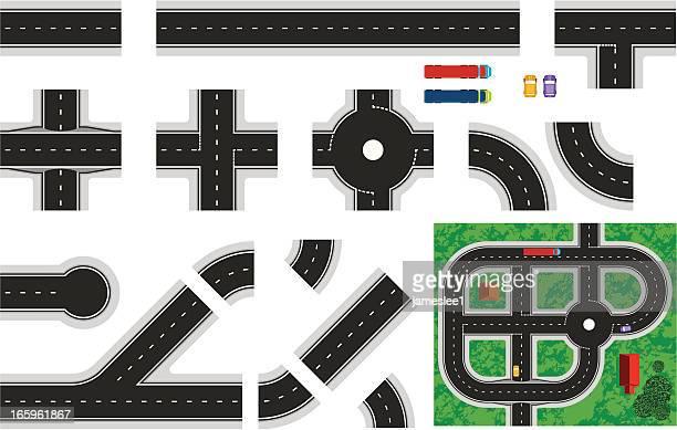 construct-a-road - road stock illustrations, clip art, cartoons, & icons