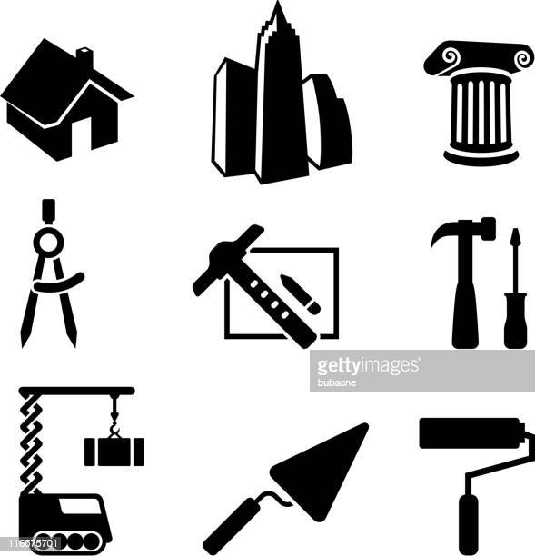 construction and architecture - protractor stock illustrations, clip art, cartoons, & icons