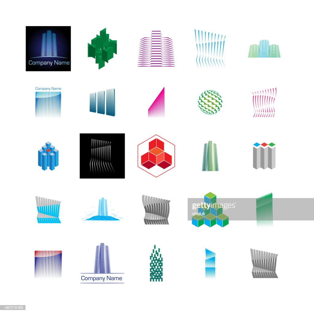 Construction And Building Theme Icons Symbols Stock