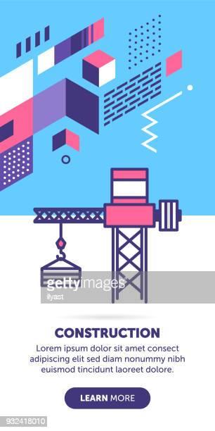構造のバナー - 吊り上げる点のイラスト素材/クリップアート素材/マンガ素材/アイコン素材