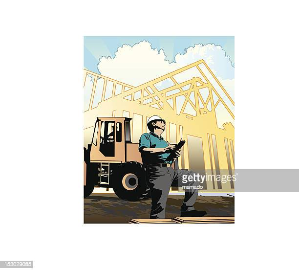construction: contractor / engineer - contractor stock illustrations, clip art, cartoons, & icons