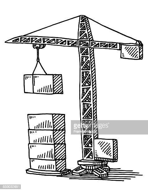 Illustrations et dessins anim s de engin de chantier - Dessin de grue ...