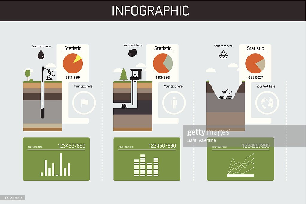 Construction dig site infographic chart