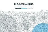 construction Doodle Website Template Design