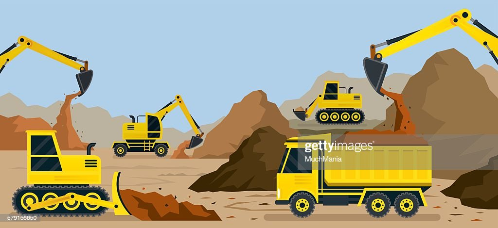 Construction, Earthworks, Quarry, Background