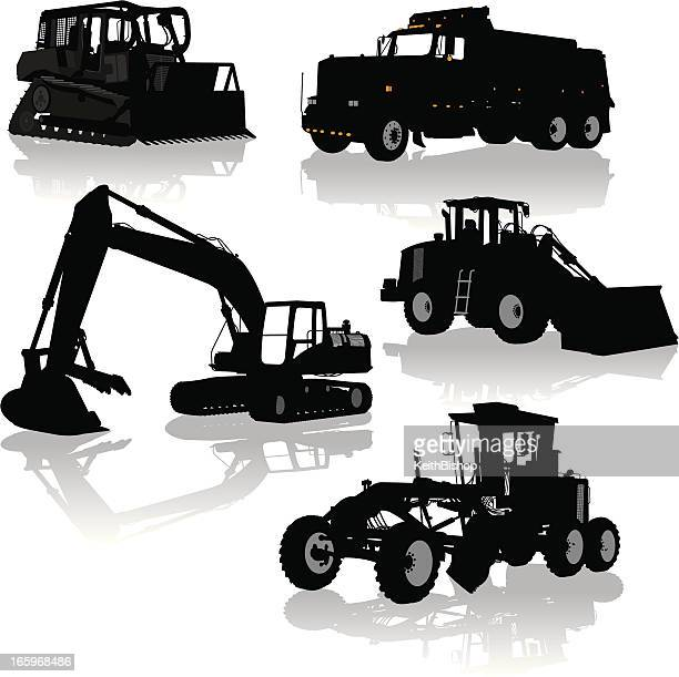Construction Equipment, Vehicles - Bulldozer, Dump Truck, Grader