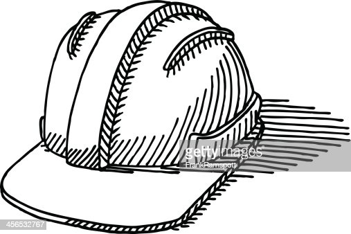 Construction Hard Hat Drawing Vector Art