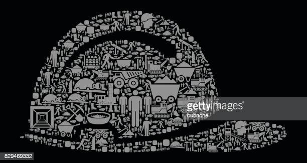 construction helmet  mining industry vector icon background - occupational safety and health stock illustrations, clip art, cartoons, & icons