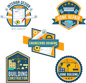Construction, home repair and interior icons