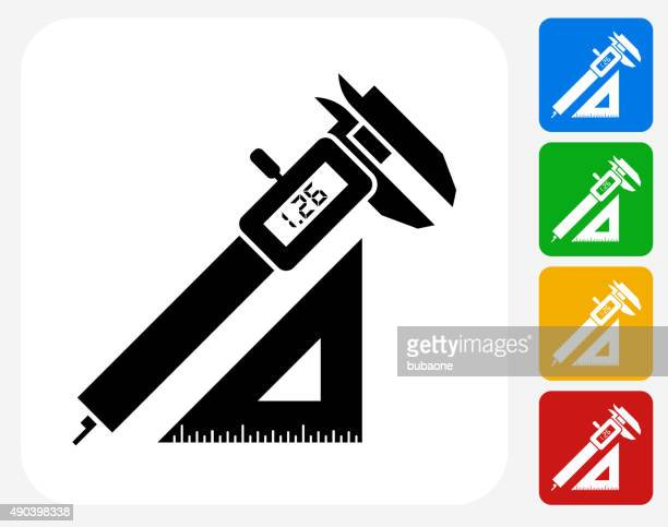 bau-symbol flache grafik design - schieblehre stock-grafiken, -clipart, -cartoons und -symbole